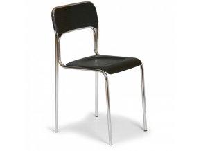 Plastová jídelní židle ASKA, černá