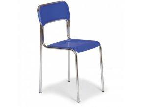 Plastová jídelní židle ASKA, modrá
