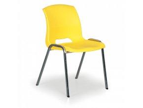 Plastová židle Cleo, žlutá