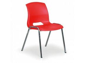 Plastová židle Cleo, červená