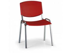 Konferenční židle EUROSEAT Smile, červená