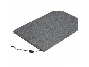 Topný koberec, 60 x 90 cm, šedý