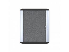 MASTER 612x647 mm Informační vitrína , textilní, šedá