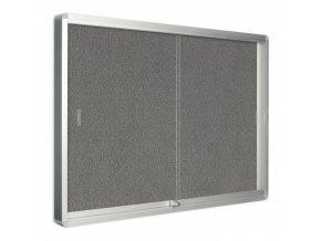 Vitrína s posuvnými dveřmi, textilní, 967x706 mm