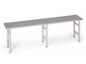 Šatní lavička, sedák lamino, nohy šedé, 2000 mm