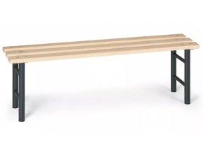 Šatní lavička, sedák latě, nohy antracit, 1,5 m