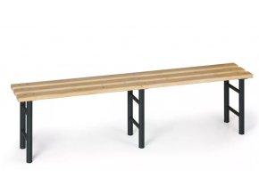 Šatní lavička, sedák latě, nohy antracit, 2000 mm