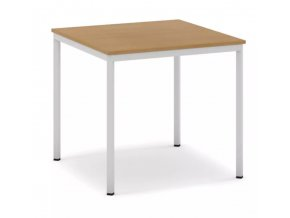 Jídelní stůl, světlešedá konstrukce, 800 x 800 mm, buk