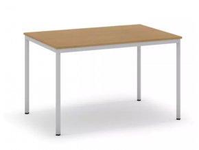 Jídelní stůl, světlešedá konstrukce, 1200 x 800 mm, buk