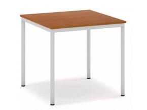 Jídelní stůl, světlešedá konstrukce, 800 x 800 mm, třešeň