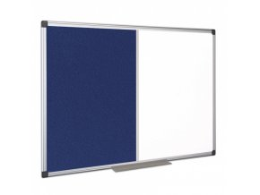 Kombi magnetická tabule nástěnka 90 x 60 cm