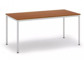 Jídelní stůl, světlešedá konstrukce, 1600 x 800 mm, třešeň