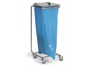 Mobilní stojan na odpadkové pytle s víkem