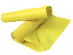 Pytle na odpad 120l žluté 50 mic