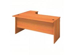 MIRELLI A+ Kancelářský stůl ergonomický, pravý, třešeň, 1400/800 x 1200/420 x 750 mm