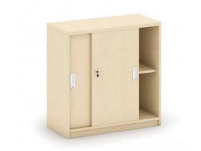 MIRELLI A+ Kancelářská skříň zasouvací, bříza, 800 x 400 x 800 mm 1