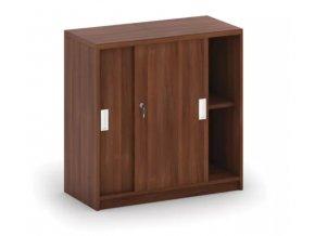 MIRELLI A+ Kancelářská skříň zasouvací, ořech, 800 x 400 x 800 mm 1