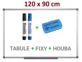 Magnetická bílá tabule Supraviz 120x90