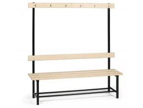 Šatní lavička s věšáky jednostranná