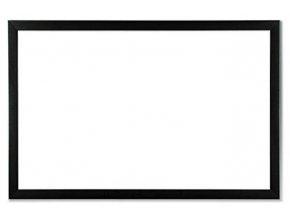 Bílá magnetická tabule s dřevěným rámem