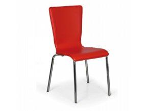 Jídelní židle Caprio, červená 1