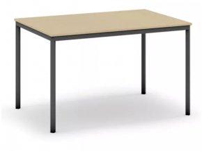Jídelní stůl, tmavěšedá konstrukce, 1200 x 800 mm, bříza