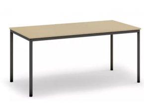 Jídelní stůl, tmavěšedá konstrukce, 1600 x 800 mm, bříza