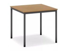 Jídelní stůl, tmavěšedá konstrukce, 800 x 800 mm, buk