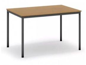 Jídelní stůl, tmavěšedá konstrukce, 1200 x 800 mm, buk