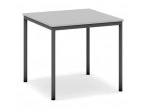 Jídelní stůl, tmavěšedá konstrukce, 800 x 800 mm, šedá