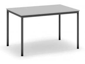 Jídelní stůl, tmavěšedá konstrukce, 1200 x 800 mm, šedá