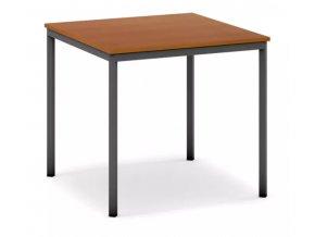Jídelní stůl, tmavěšedá konstrukce, 800 x 800 mm, třešeň