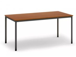 Jídelní stůl, tmavěšedá konstrukce, 1600 x 800 mm, třešeň