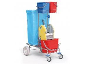 Profesionální úklidový vozík jednokbelíkový