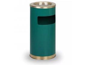 Odpadkový koš s popelníkem, zelený 1
