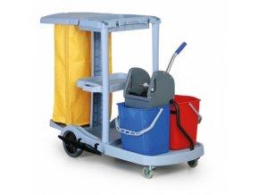 Úklidový vozík s držákem na pytle
