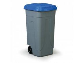 Mobilní odpadkový koš 100 L, modré víko