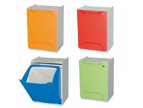 Sada odpadkových košů 4x14 l, mix barev