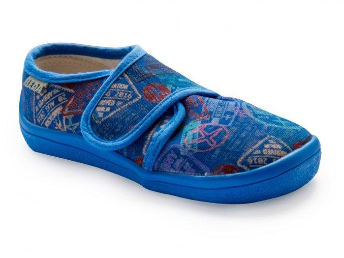 6170 barefoot boty beda platenky modre