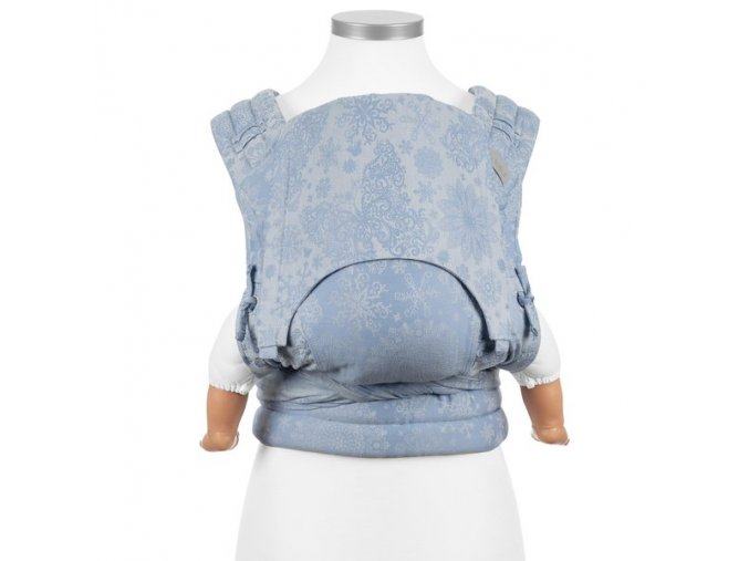 baby size fly tai mei tai baby carrier classic iced butterfly light blue