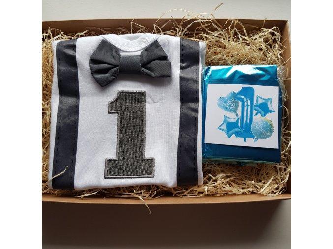 Box první narozeniny modrý LOLA dětem
