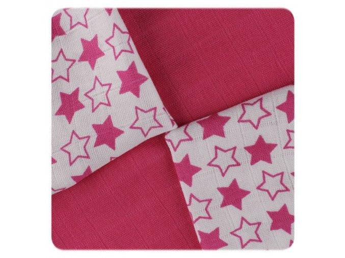 bambusove ubrousky xkko bmb 30x30 little stars magenta mix a20