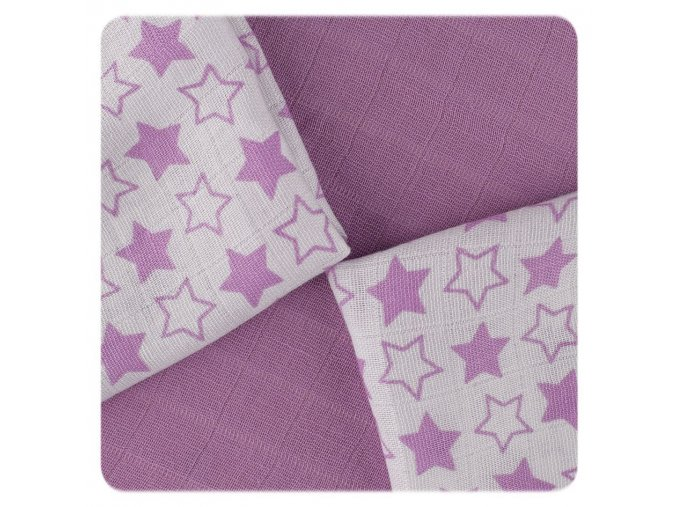 bambusove ubrousky xkko bmb 30x30 little stars lilac mix a7b
