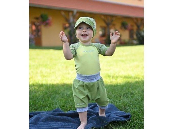 Šortky tenké harémky Outlast® - zelená matcha