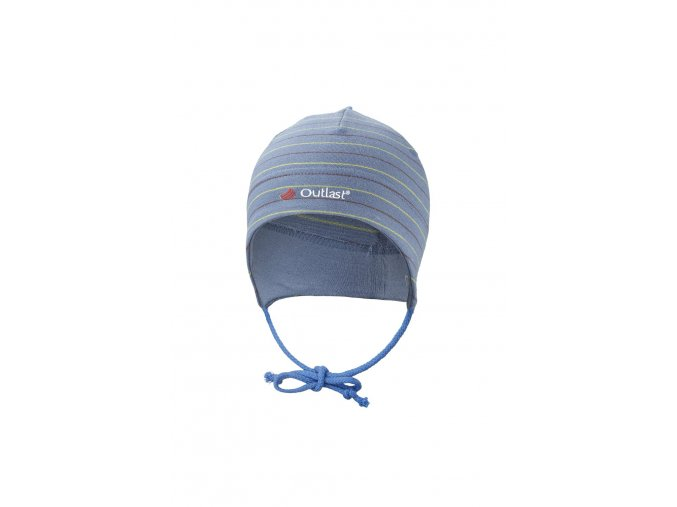 Dětská čepice smyk zavazovací Outlast ® - pruh denim