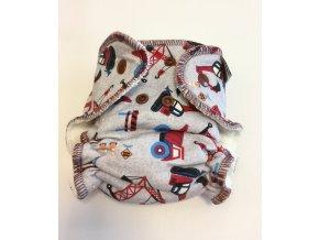 Kalhotková plena Anavy, Stavební stroje - novorozenecká