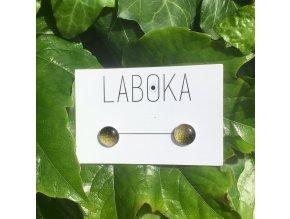 Laboka skleněné náušnice, Černé zlato, 26