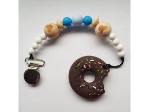 Modry klip + donut