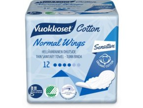 vuokkoset cotton 12 normal wings thin