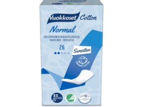 vuokkoset cotton 26 active normal pantyliner